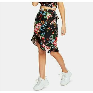 NWT Free People Size XS Navy Floral Wrap Skirt New